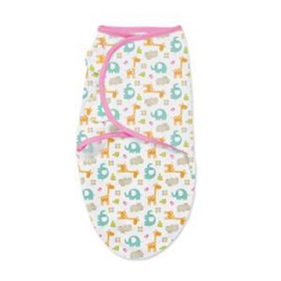 【悅兒樂婦幼用品?】美國Summer Infant 聰明懶人嬰幼兒睡袋包巾【純棉系列-動物派對】