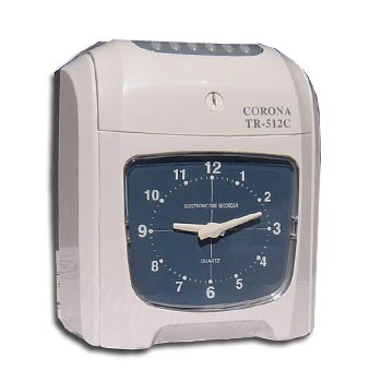 CORONA TR-512C 大型鐘面顯示電子打卡鐘