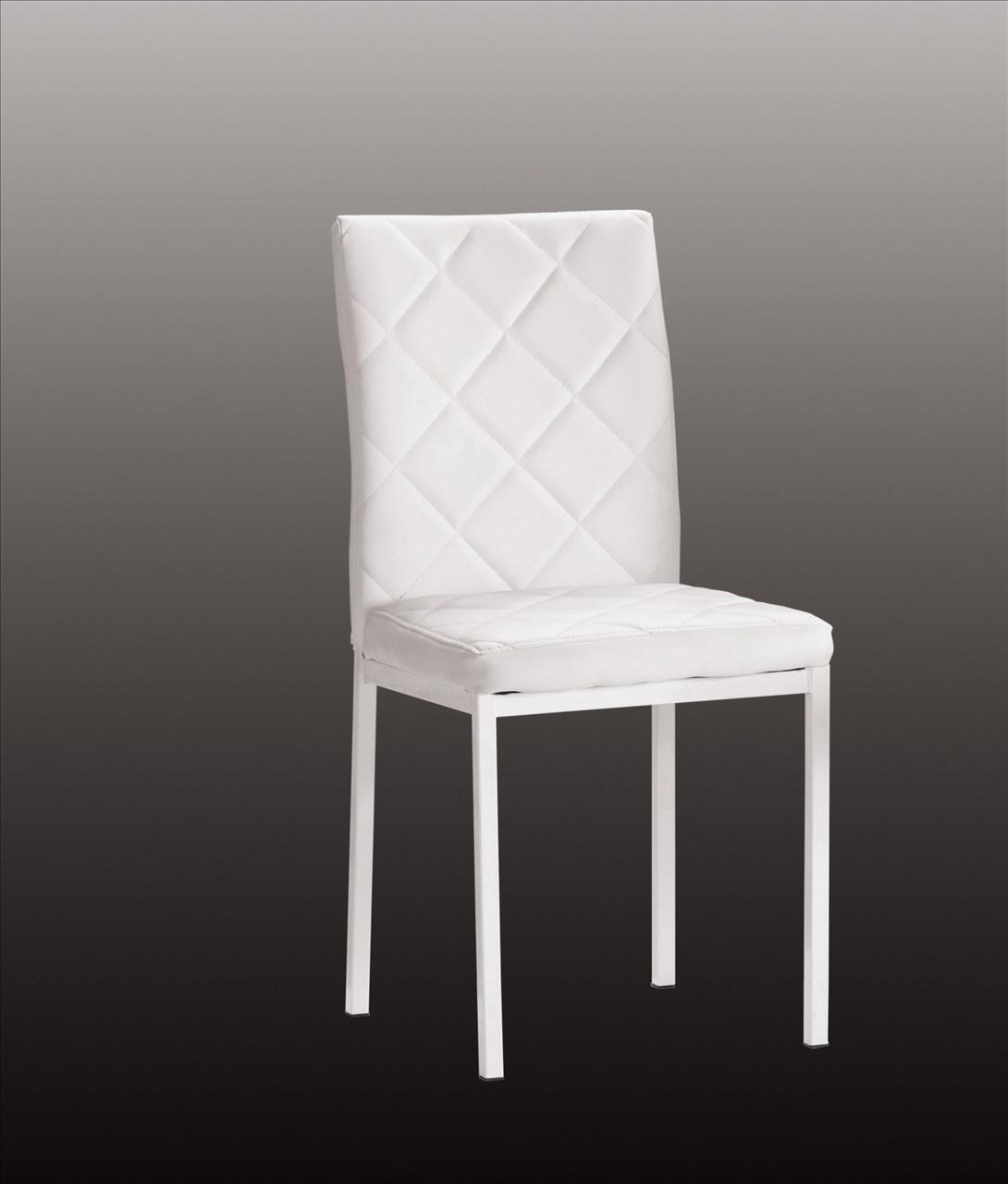 【石川家居】CM-490-2 喬治餐椅(白皮)─單只 (不含其他商品) 台中以北搭配車趟免運