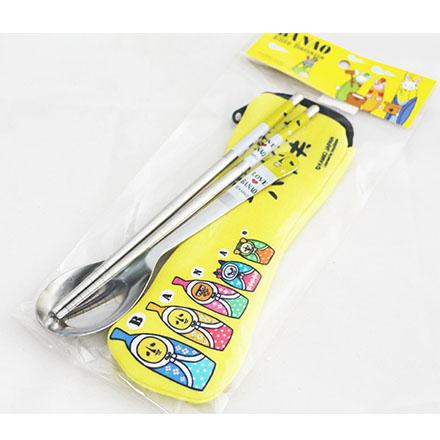 【敵富朗超巿】香蕉先生不鏽鋼餐具環保筷 隨身餐具 Banana Banao