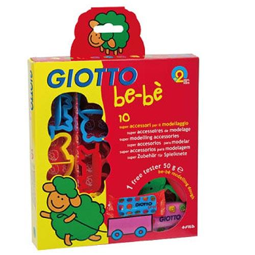 【奇買親子購物網】義大利 GIOTTO BEBE 寶寶黏土工具組