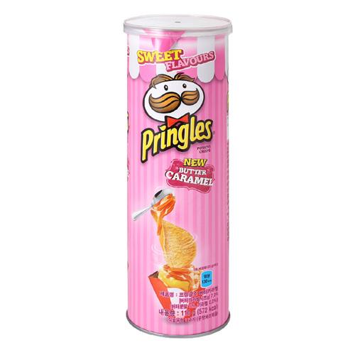 有樂町進口食品 韓國夢幻限定版 品客粉紅洋芋片 奶油焦糖口味 大罐 110g K90 8886467104725