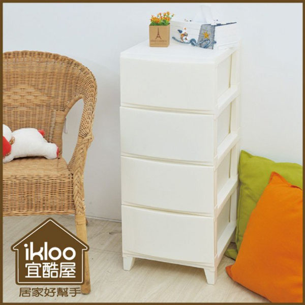 BO雜貨【YV9033】ikloo~歐風四層抽屜整理箱 收納櫃 置物櫃 四層櫃 抽屜櫃 置物架 衣物收納