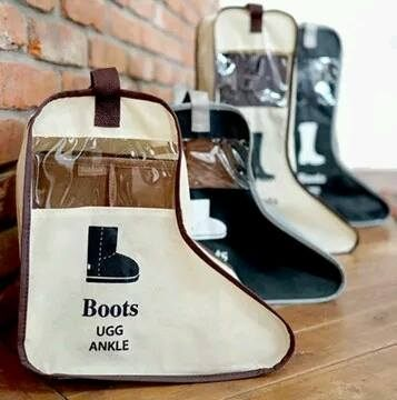 小熊日系*韓國靴袋小款,手提短靴子短筒靴防塵收納袋 旅行袋 防塵罩 防塵袋 防潮