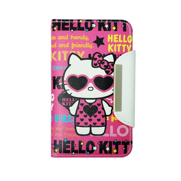 【Kitty】Apple iPhone 5 - 正版授權 Hello kitty 側翻皮套 (墨鏡款)