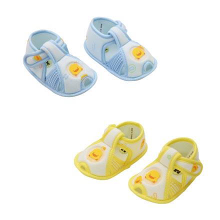 【悅兒樂婦幼用品?】Piyo 黃色小鴨 格狀嬰兒學步涼鞋