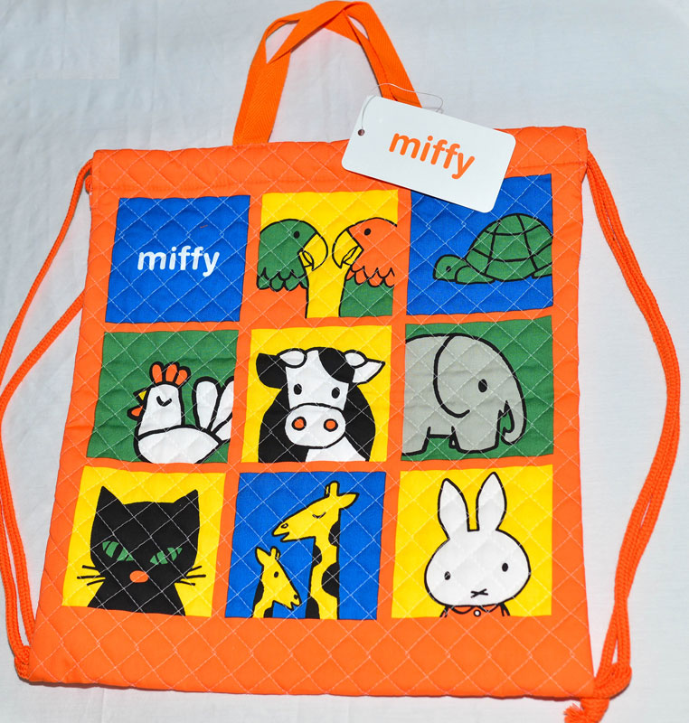 Miffy 米菲兔 手提袋 束口袋 後背包 日本製正版商品 100%綿