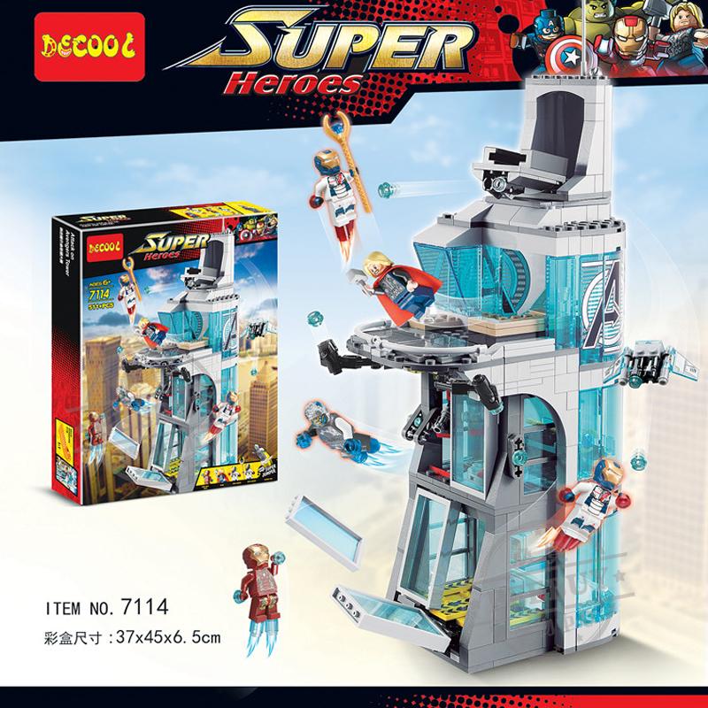 正品積木突襲大廈 進攻復仇者聯盟總部 襲擊復仇者塔 鋼鐵人 雷神 奧創 鋼鐵軍團 復仇者聯盟2復仇者聯盟總部SY370相容LEGO非樂高76038 / 得高7114
