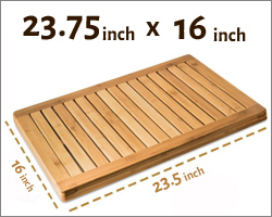 Measuring 23 75 X 16 With A 1 Height The Mat Fits Nicely In All Bathrooms Kitchens And Outdoor Areas Strength Of Wooden Shower Means That