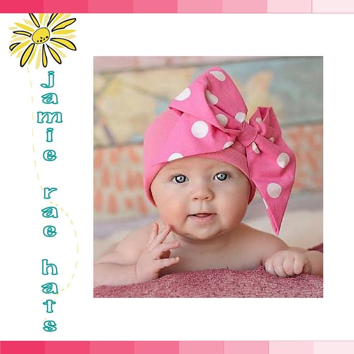 ★啦啦看世界★ Jamie Rae Hats 俏皮蝴蝶結糖果棉帽/ 嬰兒帽 出生禮 彌月禮 小孩帽 兒童帽