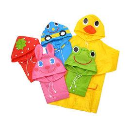 *彩色童話*日系雨傘防水布 超輕巧兒童雨衣造型雨衣 附收納袋 90-120cm適用