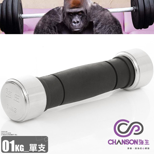 【Chanson 強生】電鍍1KG啞鈴(1公斤啞鈴電鍍啞鈴.重力舉重量訓練.運動健身器材.推薦哪裡買)
