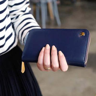 手機零錢包 韓國皇冠 拉鍊長夾 卡夾 手拿包 護照包 護照套【SV2332】快樂生活網
