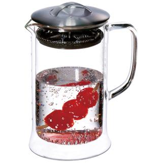 【佑銘嚴選LY607-M】茶大師-雙層玻璃壺(600ml)雙層玻璃保溫杯/茶壺/茶杯