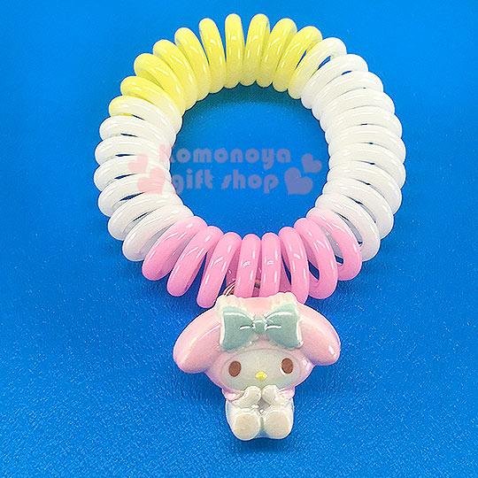 〔小禮堂〕美樂蒂 造型電話線髮束《粉黃白.坐姿》髮圈