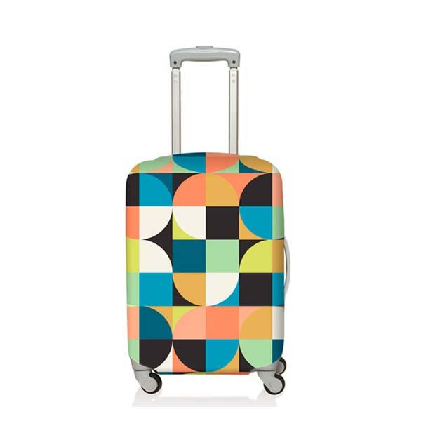 【加賀皮件】LOQI 行李箱套(M)-幾何系列 彈性伸縮可收納 旅行箱套 LQL004-M