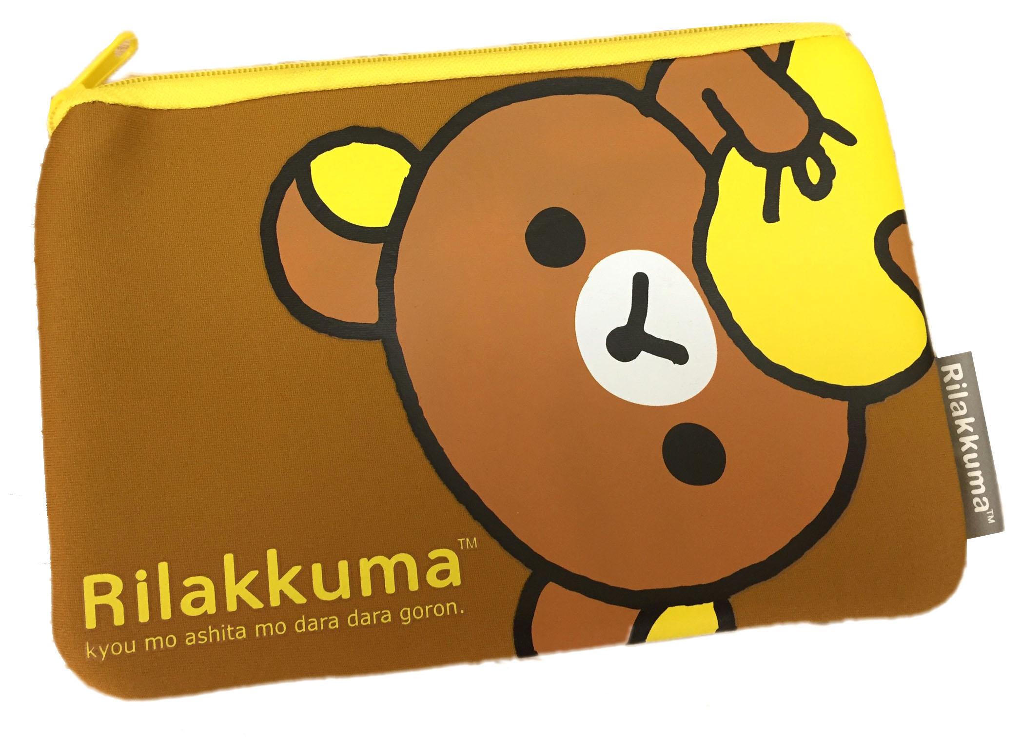 【真愛日本】16072700025拉拉熊潛水布單拉筆袋-抱抱咖  拉拉熊 Rilakkuma  筆袋