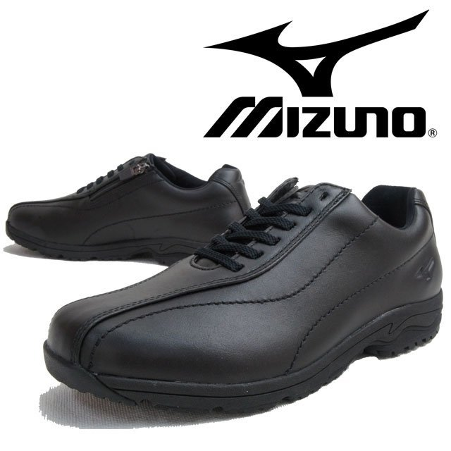 Mizuno 日本大人氣 真皮 WAVE避震寬楦健走鞋LD40 Ⅲ(黑色)