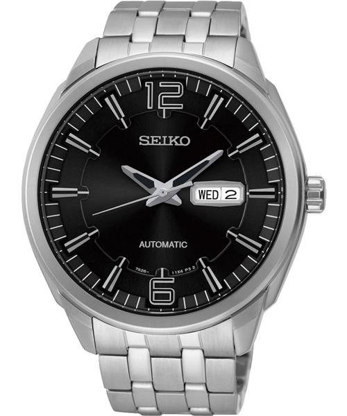 Seiko 精工五號 7S26-04H0D(SNKN47J1)雙日曆經典腕錶/黑面45mm