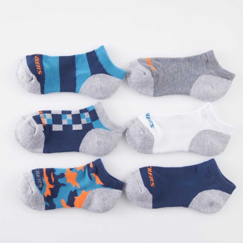 [陽光樂活] SKECHERS 男童短襪 S105892-037 一組6雙不拆售