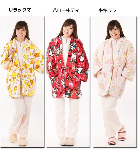 HELLO KITTY雙子星懶熊 和服外套防寒泰迪紅san757海渡