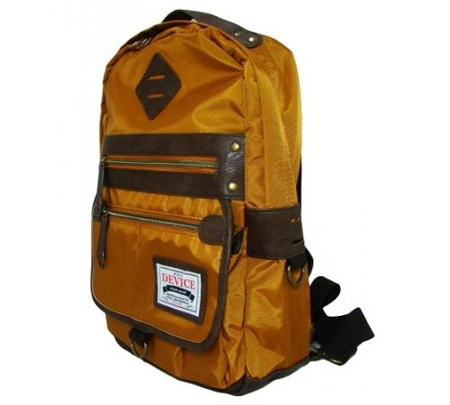 日本DEVICE潮牌單肩背包-焦糖黃 A4大容量