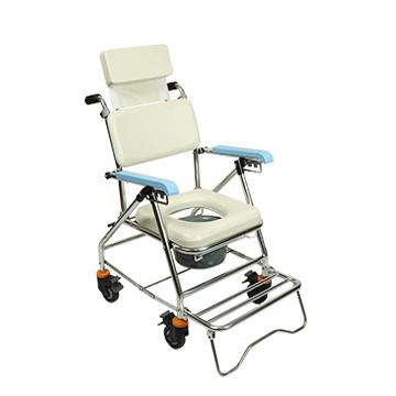 永大醫療~均佳 鋁合金有輪可躺便器椅 JCS-207 特惠價4320元