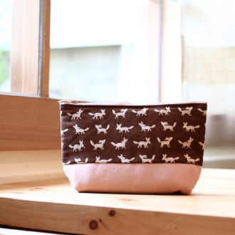 Chez。小物系列 收納日和 -櫻花粉x棕狐狸