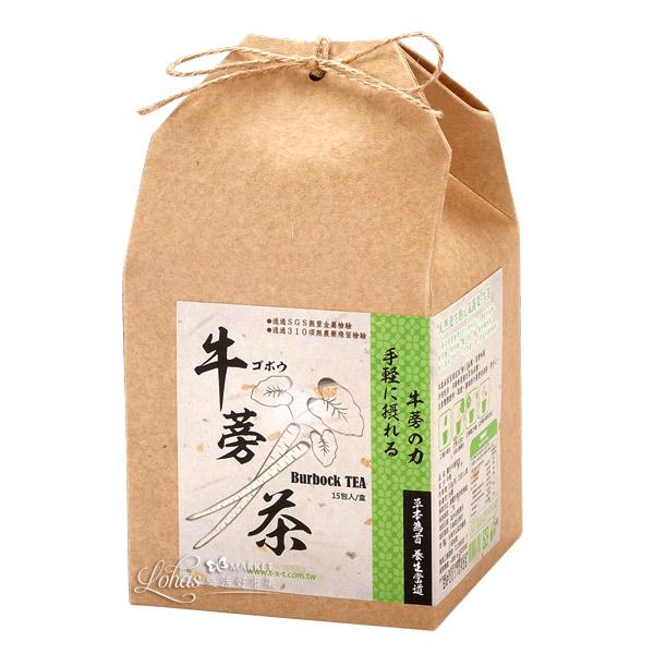 【天香堂】台灣柳川牛蒡茶-草本健美茶包-助消化、促代謝!消費者評比:「香濃好回甘!」(15包/盒)