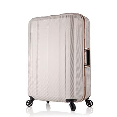 日本 LEGEND WALKER 6702-58-24吋 鋁框超輕量行李箱 碳纖白