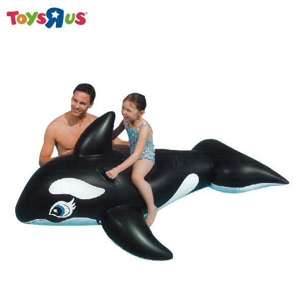 玩具反斗城 【INTEX】鯨魚氣墊騎乘 充氣水上用品