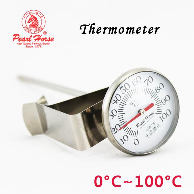 寶馬牌PEARL HORSE料理溫度計(0-100度)#304不鏽鋼 TA-TM-100咖啡手沖壺 泡茶器具 送禮