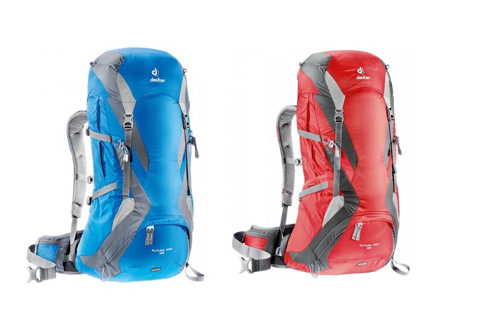 【露營趣】中和 送手電筒 Deuter 34294 Futura Pro 42L透氣網架背包 登山背包 登山袋