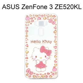 Hello Kitty 透明軟殼 [害羞] ASUS ZenFone 3 (ZE520KL) 5.2吋【三麗鷗正版授權】