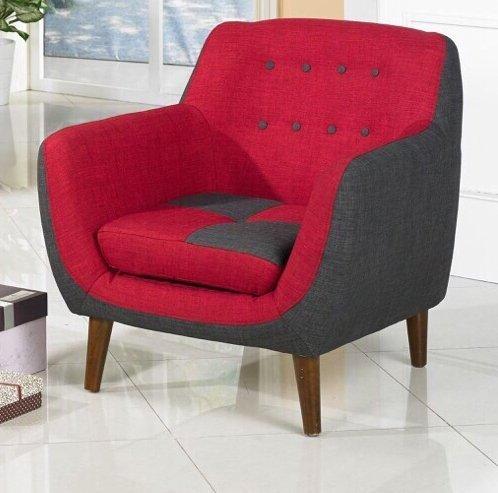 !!新生活家具!! 亞麻 布沙發 紅色 單人椅 《風和日麗》 工廠直營.臺灣製造 非 H&D ikea 宜家