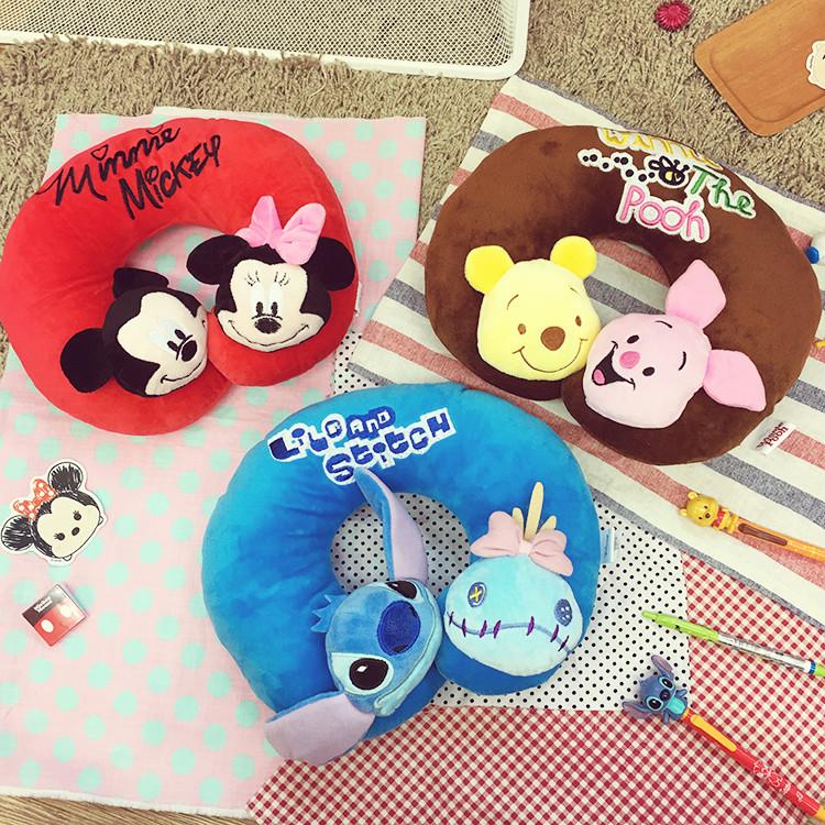 PGS7 (現貨+預購) 迪士尼系列商品 - 迪士尼 系列 頭型 頸枕 抱枕 枕頭 米奇 小熊維尼 史迪奇 米妮
