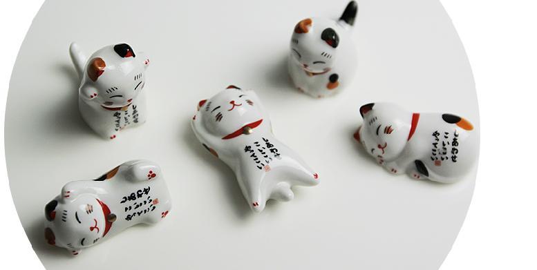 十分專案-日系可愛貓咪陶瓷擺飾(隨機出貨)