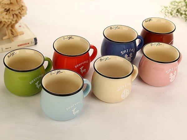 《愛鴨咖啡》zakka創意雜貨 陶瓷大牛奶杯 咖啡杯 早餐杯 牛奶杯 200ml(中)