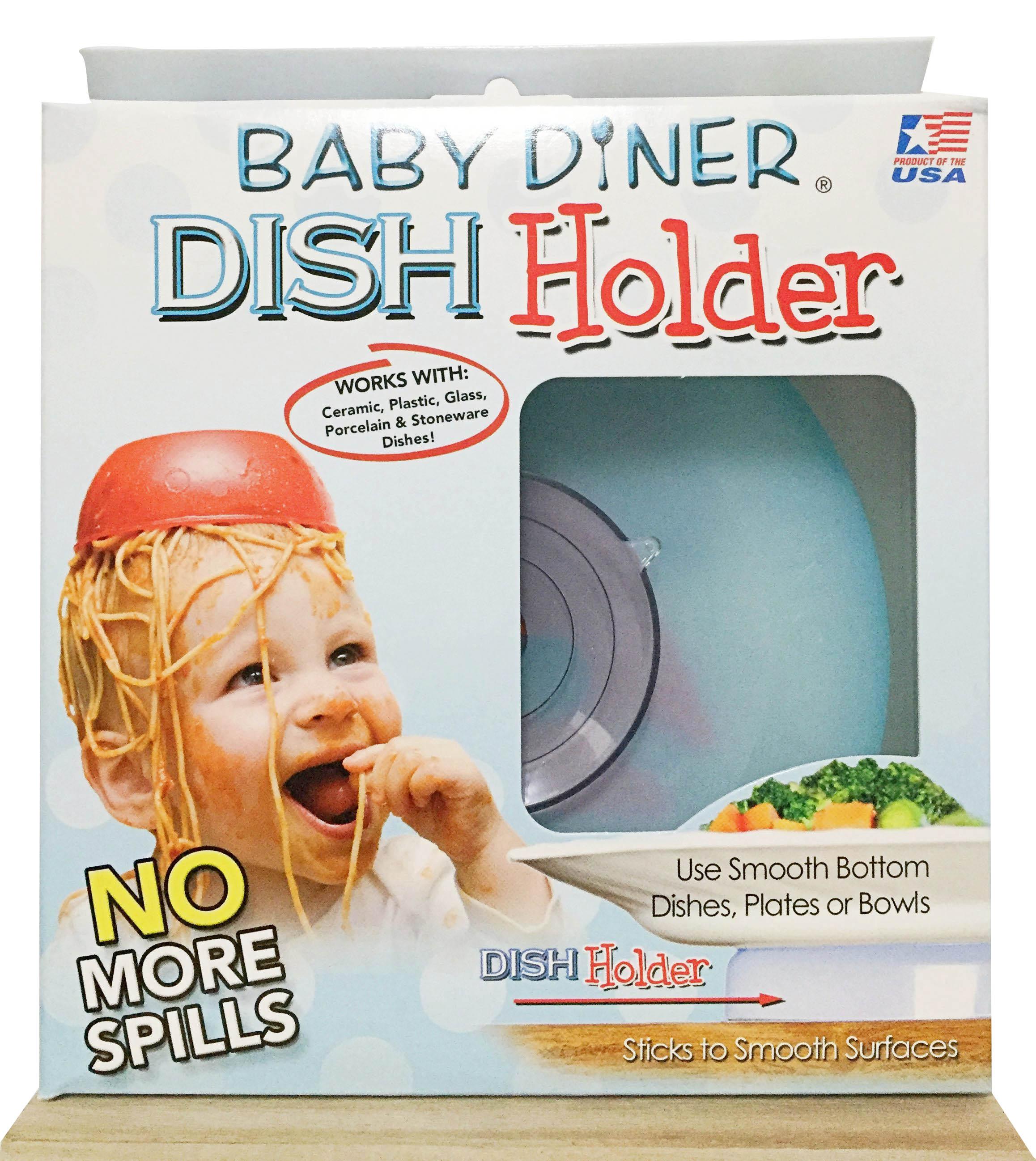 《★Baby Diner Dish Holder 》嬰兒餐具強力吸盤架 美國代購 平行輸入 溫媽媽