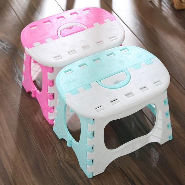 折疊小板凳 摺疊椅 塑膠椅 便攜式 手提椅 成人 兒童【SV6866】快樂生活網