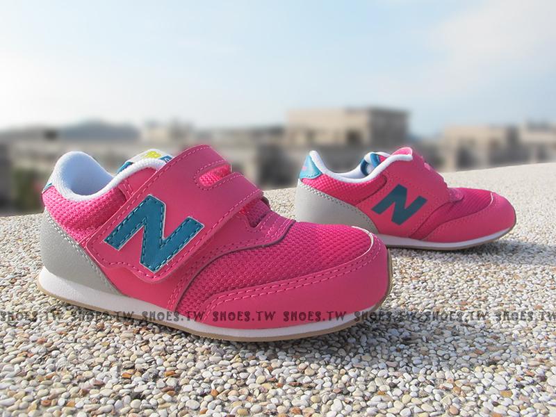Shoestw【K620PYI】NEW BALANCE 膠底 防滑 童鞋 運動鞋 小童 桃紅藍