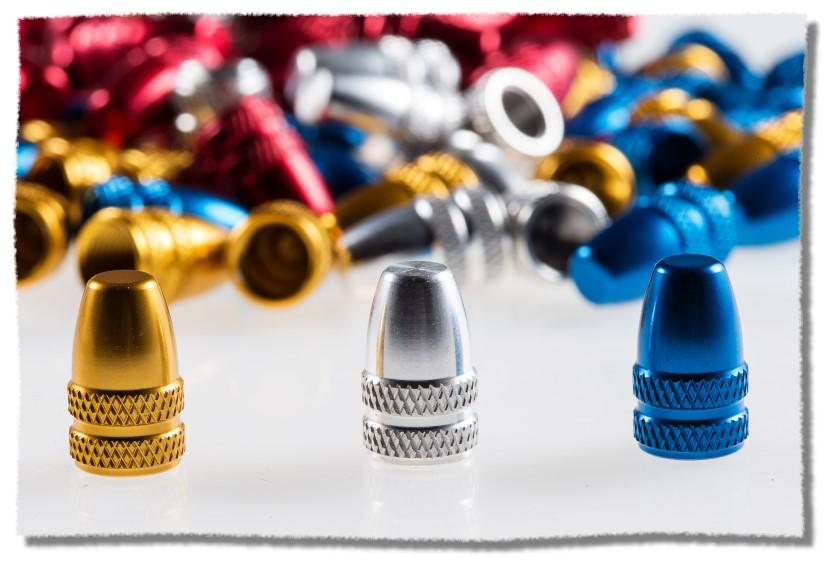 CNC製造 鋁合金 美式 氣嘴蓋 藍色《意生自行車》
