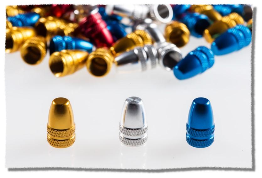 CNC製造 鋁合金 美式 氣嘴蓋 金色《意生自行車》
