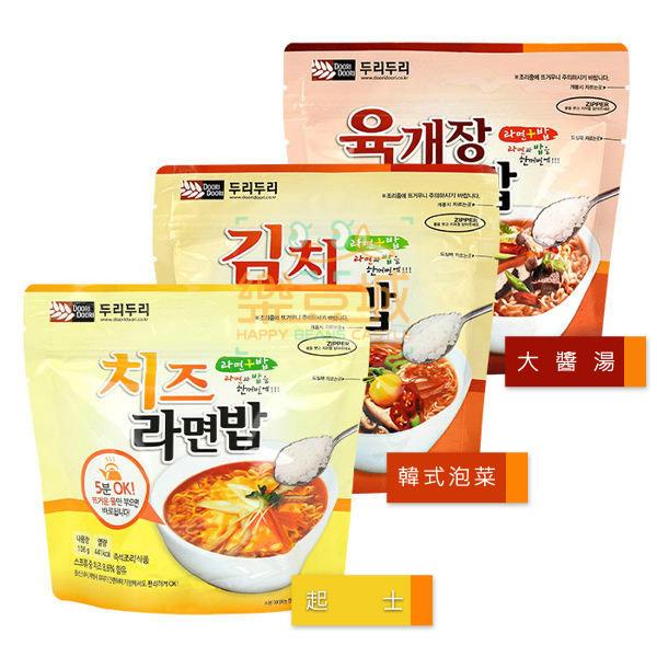 韓國 Doori Doori 泡麵+泡飯(1袋入) 韓式泡菜∕起士∕大醬湯 3款可選? 樂荳城 ?