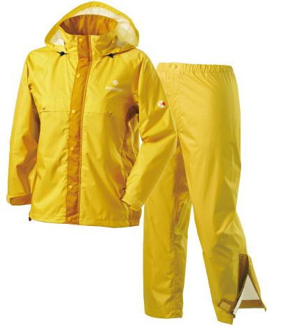 Caravan 兒童雨衣/小朋友雨衣/登山雨衣雨褲套裝組 AirRefineLite Jr 0100902 330 黃