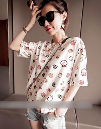 大碼女裝胖mm夏裝新款韓版蝙蝠衫半袖體恤寬鬆短袖 女學生t恤衫潮