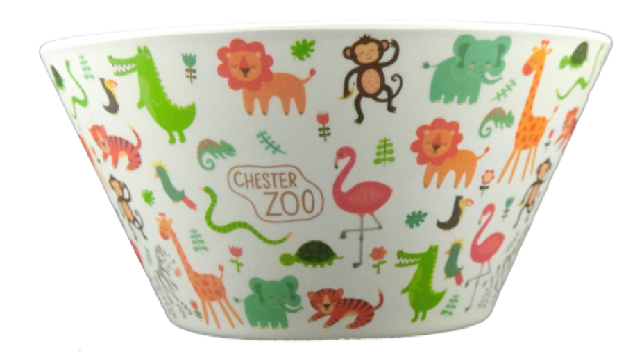 4D Pocket 可愛動物 天然竹纖維 餐碗