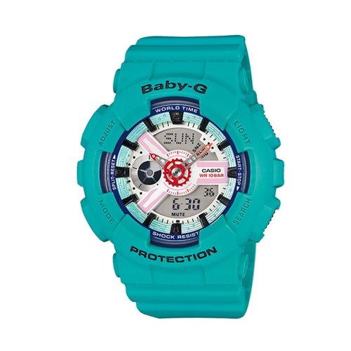 CASIO BABY-G/耀眼亮采藍時尚潮流錶/BA-110SN-3ADR