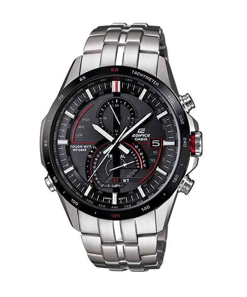 CASIO EDIFICE EQW-A1300DB-1A紳士典範太陽能電波腕錶/黑面45mm