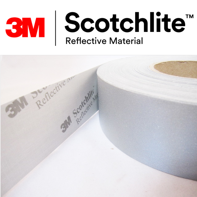 【safetylite安心生活館】《滿899免運、滿千贈禮》3M Scotchlite 8906C 反光布 反光帶 反光條 反光材料 5CM寬【銀色反光條、可水洗反光布】適用於衣料